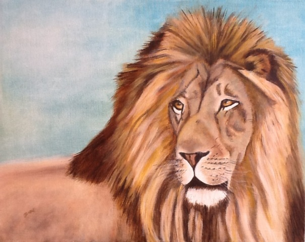 Lion 40x50cm